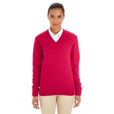 M420W Harriton M420W Ladies' Pilbloc V-Neck Sweater RED