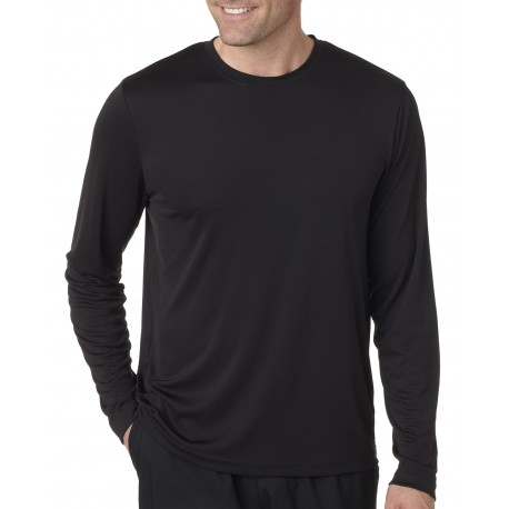 482L Hanes 482L Adult Cool DRI with FreshIQ Long-Sleeve Performance T-Shirt BLACK