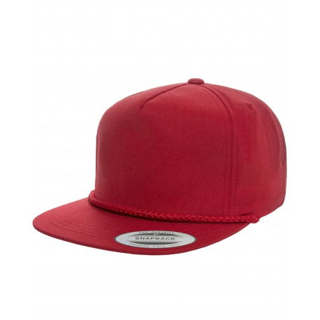 YP6002 Yupoong YP6002 Classic Poplin Golf Snapback RED