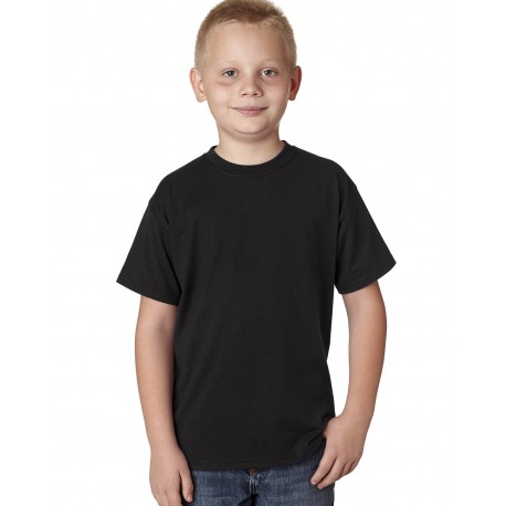 H420Y Hanes H420Y Youth 4.5 oz. X-Temp Performance T-Shirt BLACK