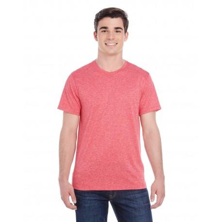 2800 Augusta Sportswear 2800 Adult Kinergy Short-Sleeve Training T-Shirt RED HEATHER