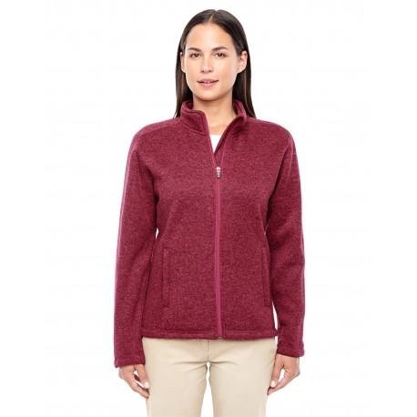 DG793W Devon & Jones DG793W Ladies' Bristol Full-Zip Sweater Fleece Jacket RED HEATHER