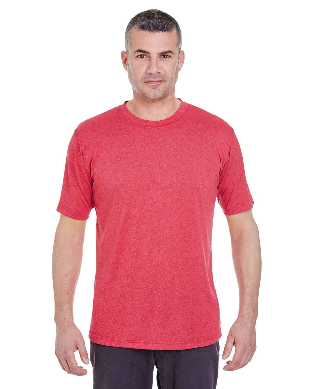 8619 UltraClub RED HEATHER