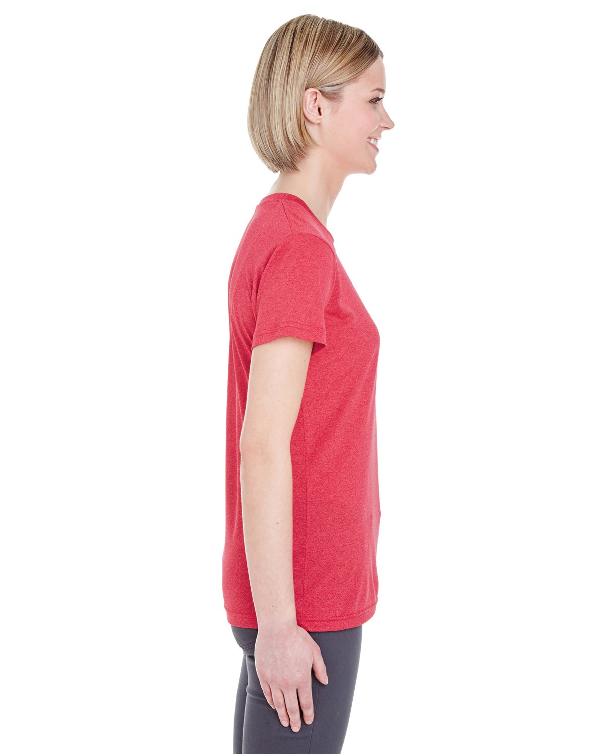 8619L UltraClub RED HEATHER