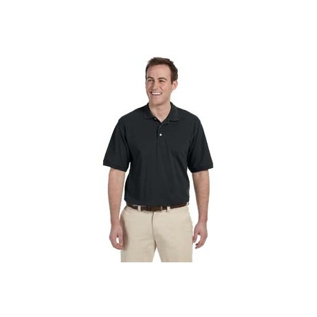 M265T Harriton M265T Men's Tall 5.6 oz. Easy Blend Polo BLACK
