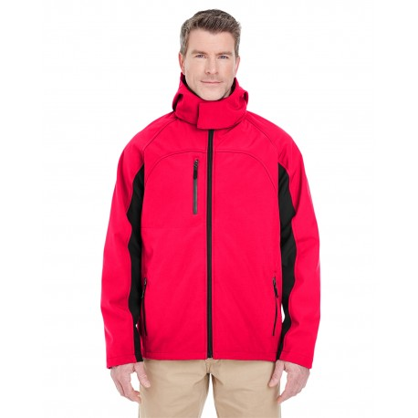 8290 UltraClub 8290 Adult Colorblock 3-in-1 Systems Hooded Soft Shell Jacket RED/BLACK