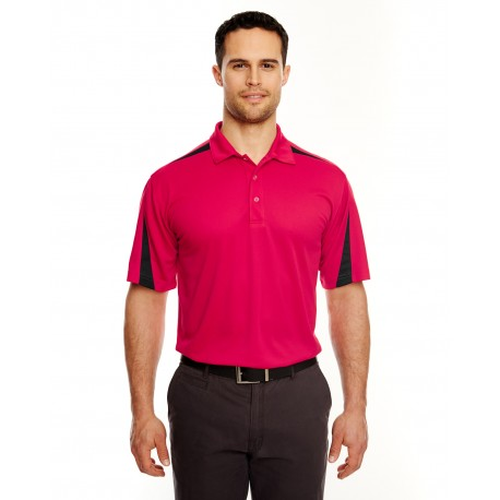8408 UltraClub 8408 Adult Cool & Dry Sport Polo RED/BLACK