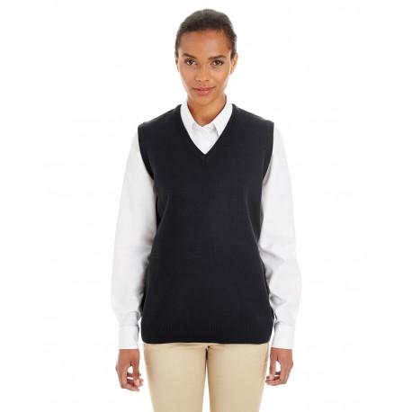 M415W Harriton M415W Ladies' Pilbloc V-Neck Sweater Vest BLACK