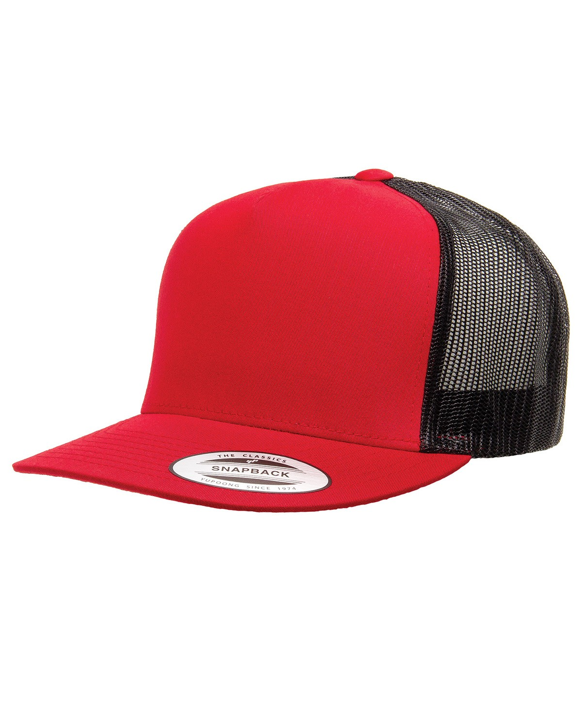 6006 Yupoong RED/BLACK