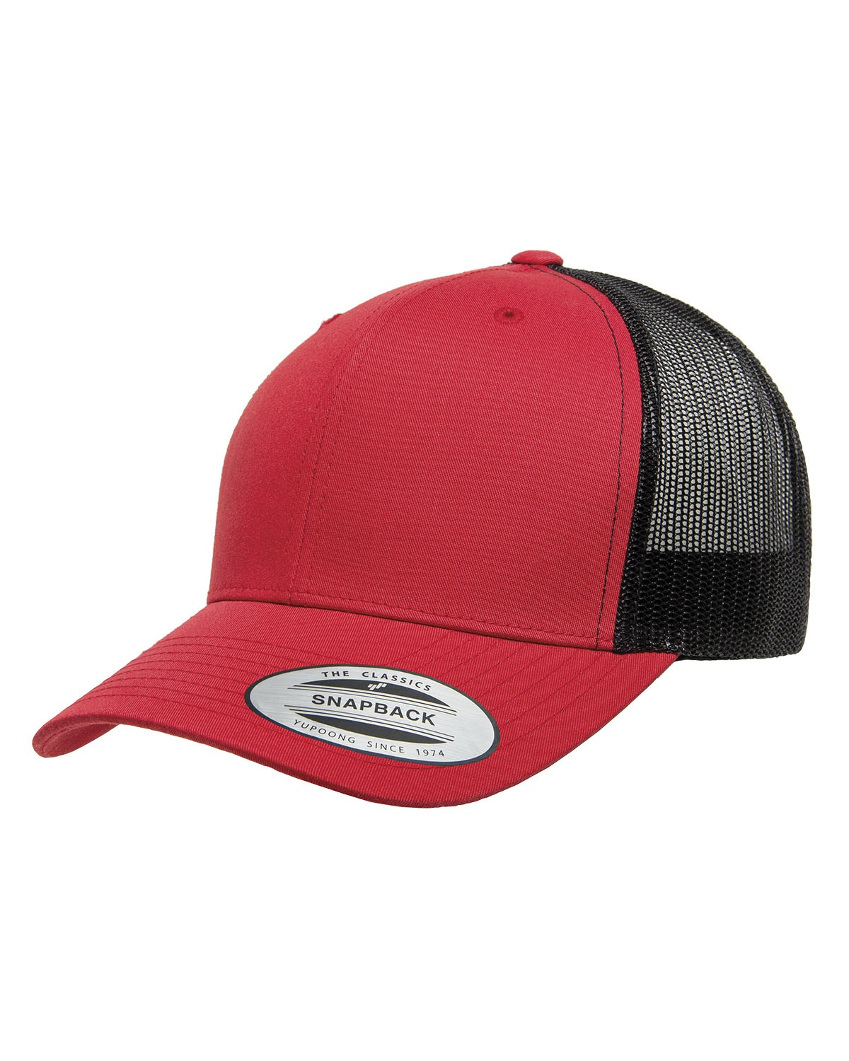 6606 Yupoong RED/BLACK