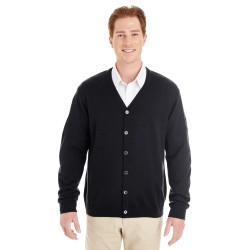 Harriton M425 Men's Pilbloc V-Neck Button Cardigan Sweater