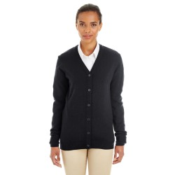 Harriton M425W Ladies' Pilbloc V-Neck Button Cardigan Sweater