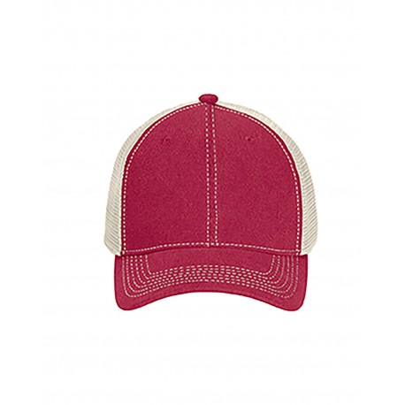105 Comfort Colors 105 Unstructured Trucker Cap RED/IVORY