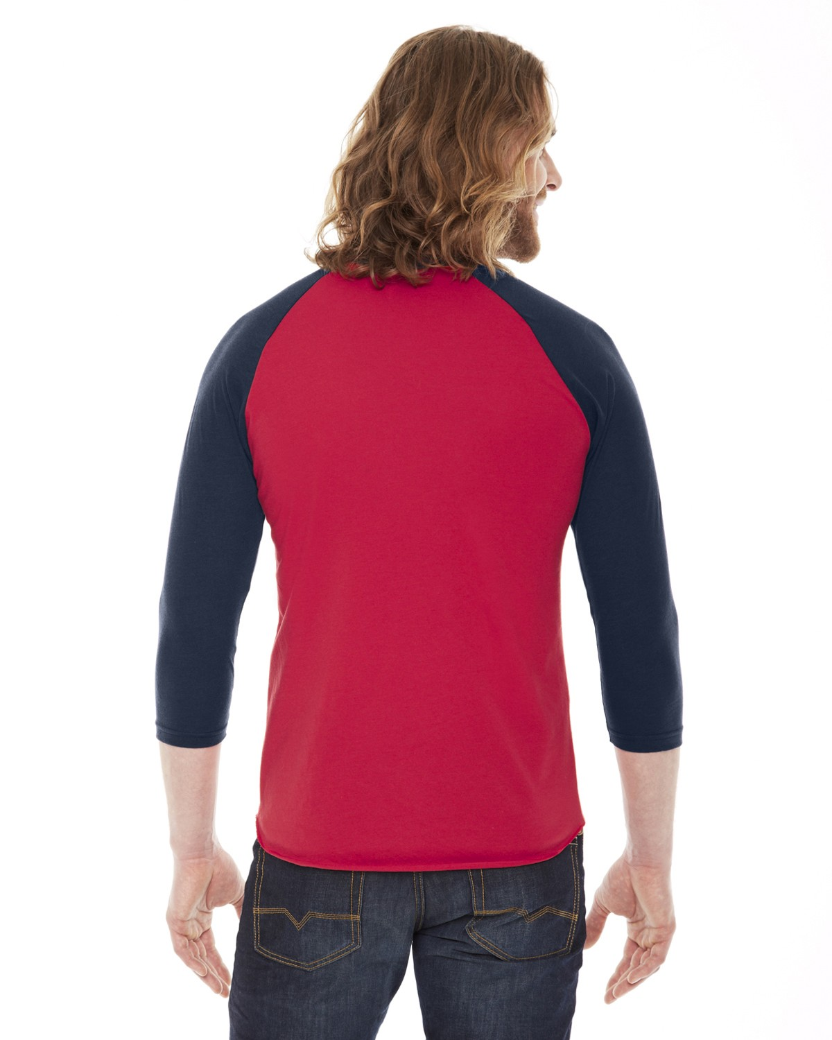 BB453W American Apparel RED/NAVY