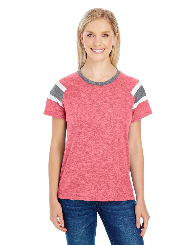 3011 Augusta Sportswear RED/SLATE/WHT