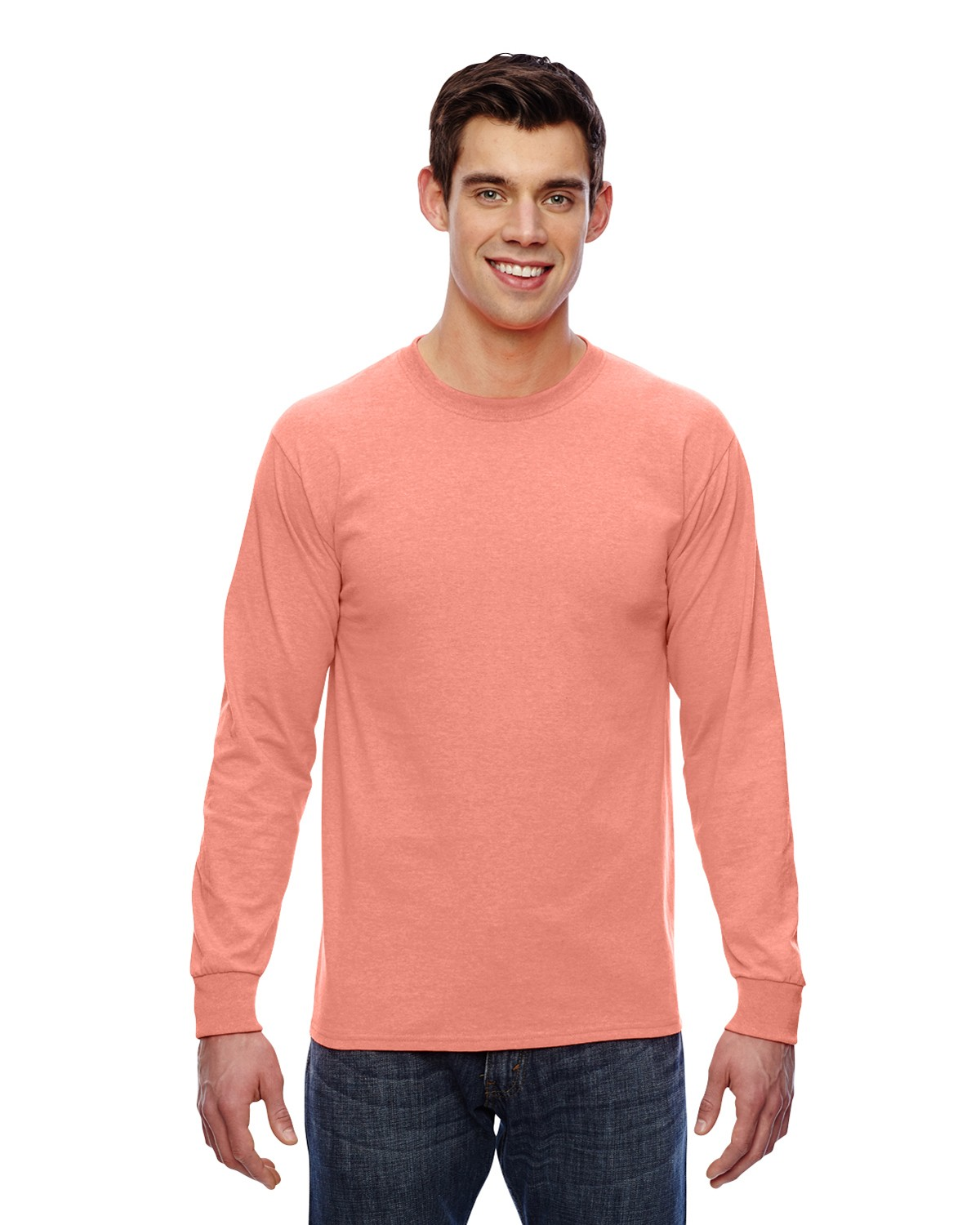 4930 Fruit of the Loom RETRO HTHR CORAL