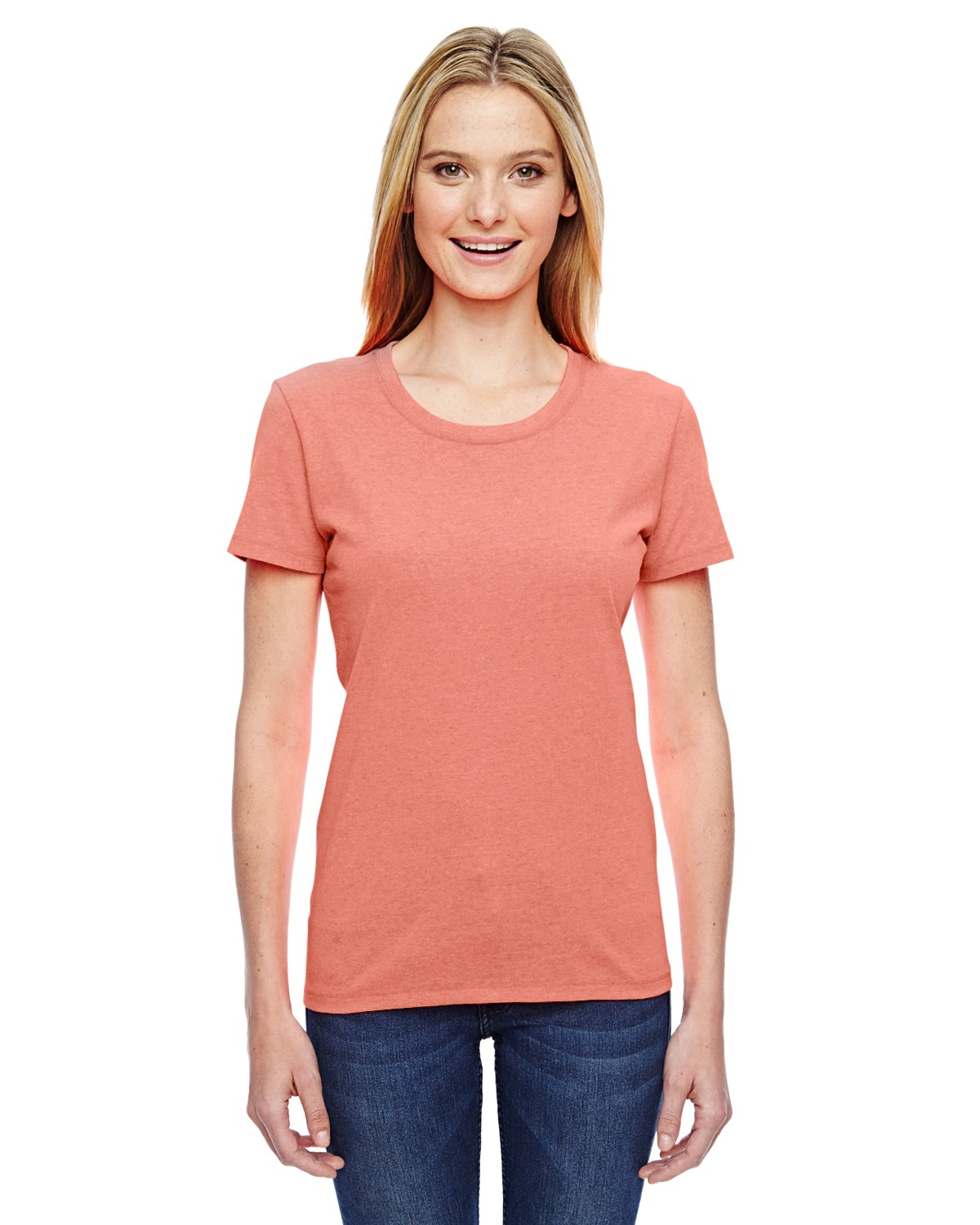 L3930R Fruit of the Loom RETRO HTR CORAL