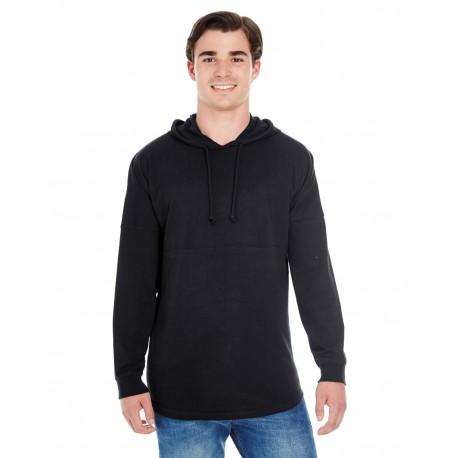 JA8228 J America JA8228 Adult Game Day Jersey Hood BLACK