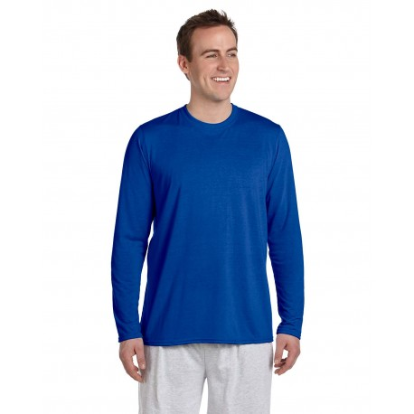 G424 Gildan G424 Adult Performance Adult 5 oz. Long-Sleeve T-Shirt ROYAL