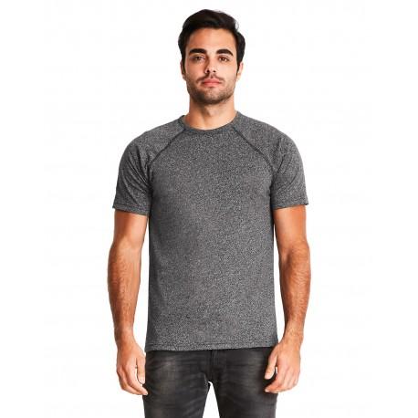 2050 Next Level 2050 Men's Mock Twist Short-Sleeve Raglan T-Shirt BLACK