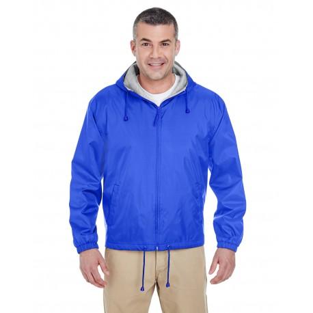 8915 UltraClub 8915 Adult Fleece-Lined Hooded Jacket ROYAL