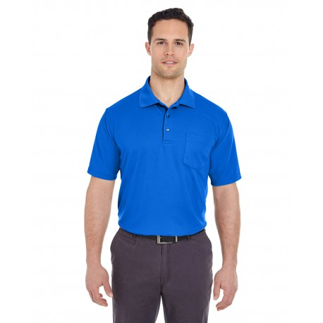 8210P UltraClub 8210P Adult Cool & Dry Mesh Pique Polo with Pocket ROYAL