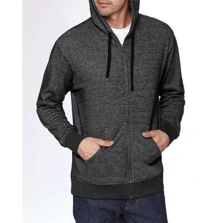 9600 Next Level 9600 Adult Denim Fleece Full-Zip Hoody BLACK