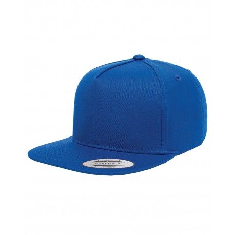 Y6007 Yupoong Y6007 Adult 5-Panel Cotton Twill Snapback Cap ROYAL