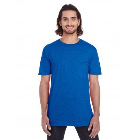 983 Anvil 983 Adult Lightweight Pocket T-Shirt ROYAL BLUE