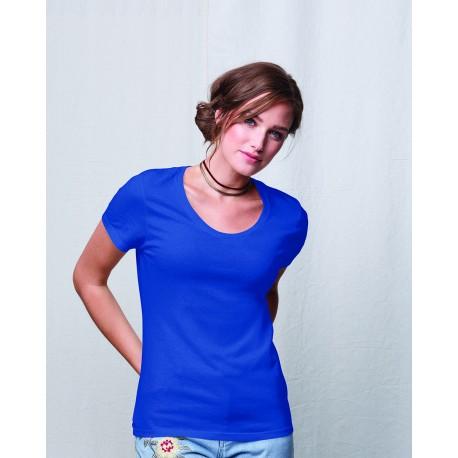 MO150 Hanes MO150 Ladies' Modal Triblend Scoop T-Shirt ROYAL TRIBLEND