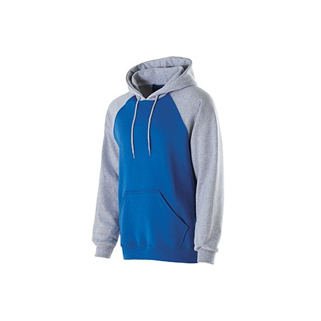 229279 Holloway 229279 Youth Cotton/Poly Fleece Banner Hoodie ROYAL/ATHL HTHR