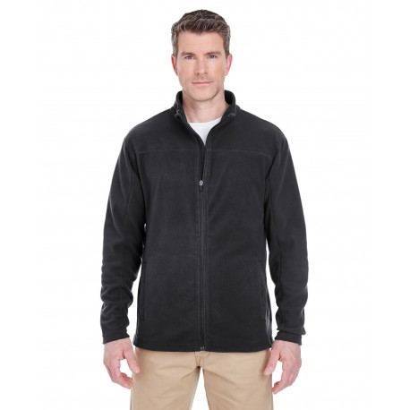 8185 UltraClub 8185 Men's Cool & Dry Full-Zip Microfleece BLACK