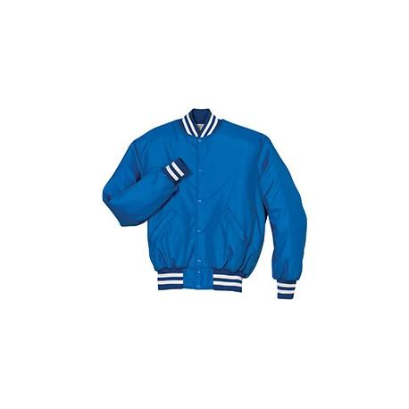 229140 Holloway 229140 Adult Polyester Full Snap Heritage Jacket ROYAL/WHITE
