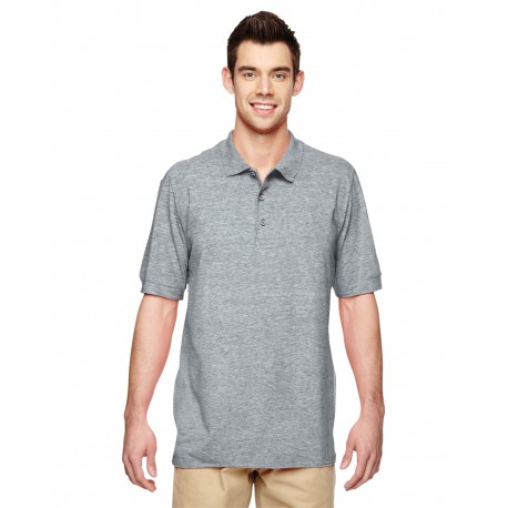 G828 Gildan G828 Adult Premium Cotton Adult 6.6 oz. Double Pique Polo RS SPORT GREY
