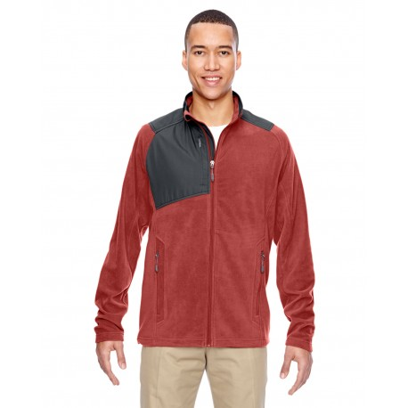 88215 North End 88215 Men's Excursion Trail Fabric-Block Fleece Jacket RUST 489