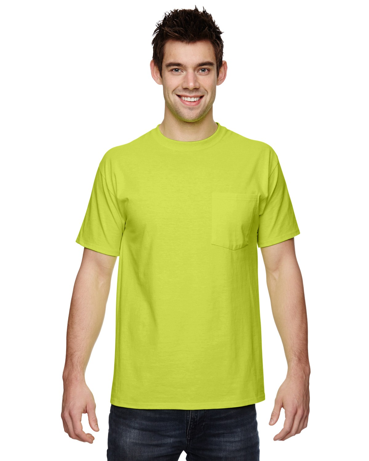 3931P Fruit of the Loom SAFETY GREEN