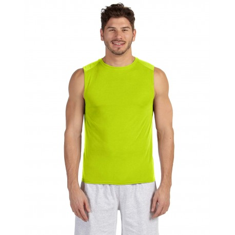 G427 Gildan G427 ADULT Performance Adult Sleeveless T-Shirt SAFETY GREEN