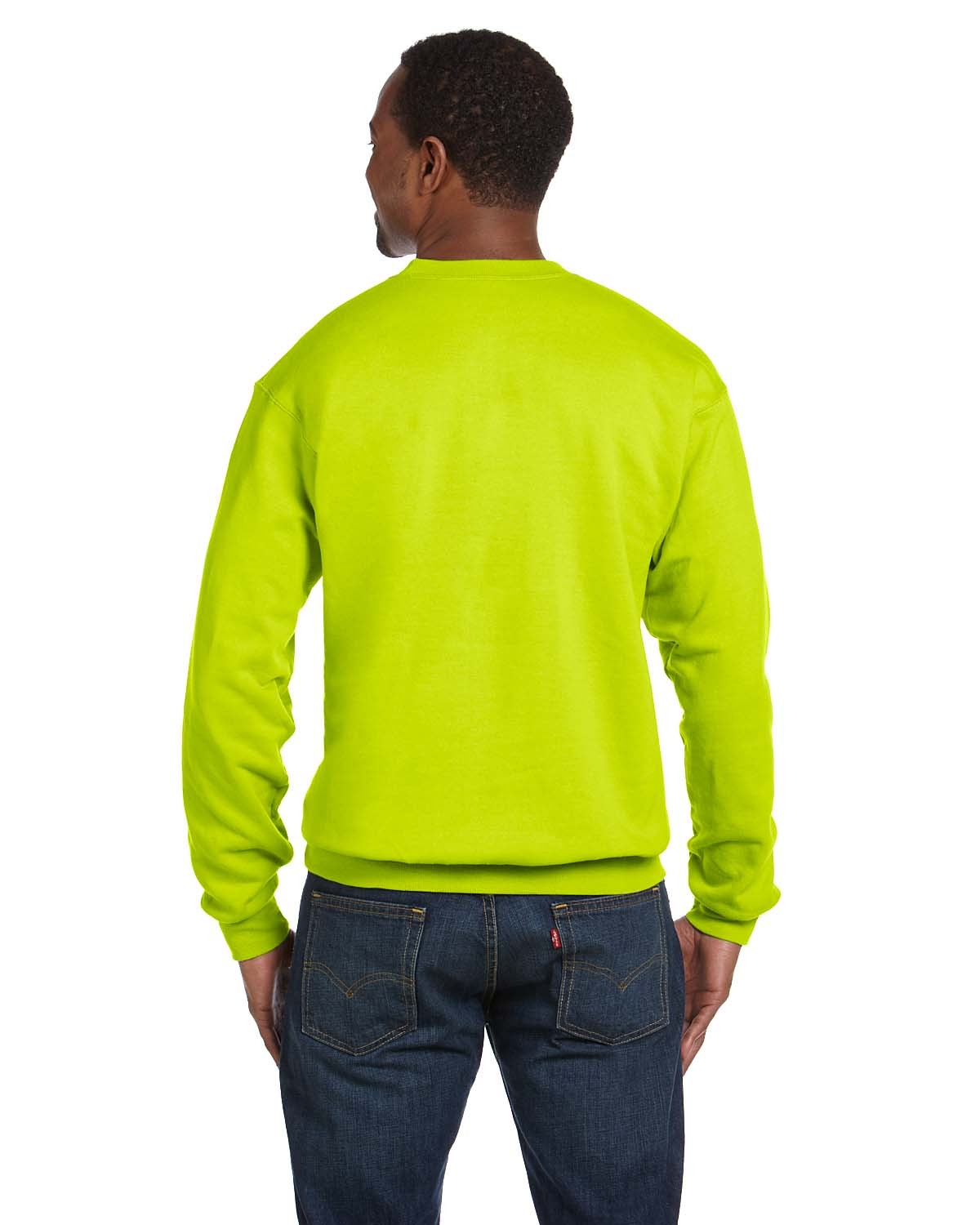 P1607 Hanes SAFETY GREEN