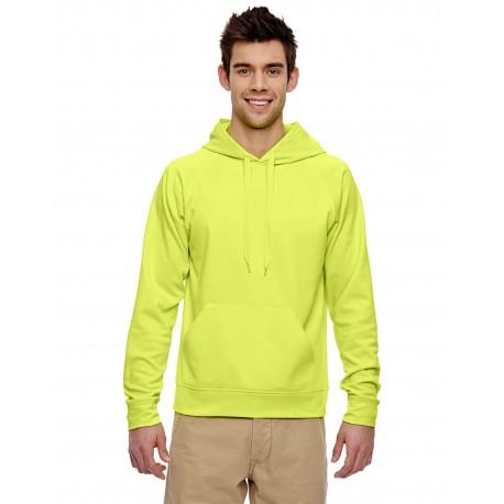 PF96MR Jerzees PF96MR Adult 6 oz. DRI-POWER SPORT Hooded Sweatshirt SAFETY GREEN