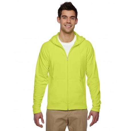 PF93MR Jerzees PF93MR Adult 6 oz. DRI-POWER SPORT Full-Zip Hooded Sweatshirt SAFETY GREEN