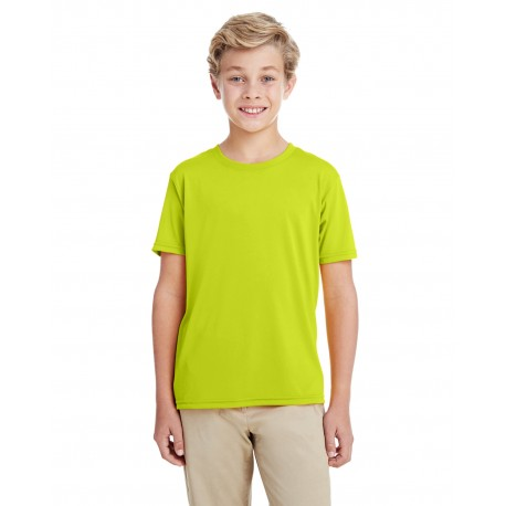 G460B Gildan G460B Youth Performance Youth Core T-Shirt SAFETY GREEN
