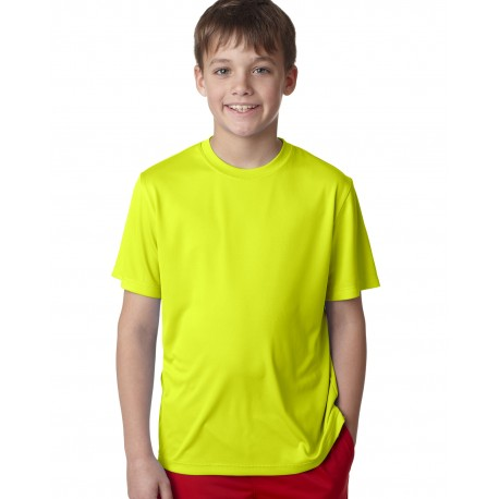 482Y Hanes 482Y Youth Cool DRI with FreshIQ Performance T-Shirt SAFETY GREEN