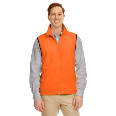 M985 Harriton M985 Adult 8 oz. Fleece Vest SAFETY ORANGE
