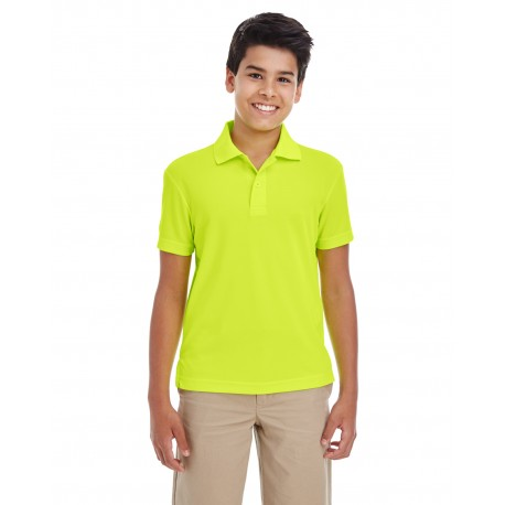 88181Y Core 365 88181Y Youth Origin Performance Pique Polo SAFTY YELLOW 691