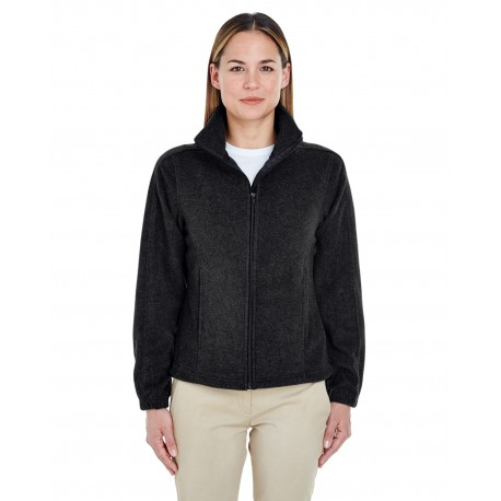 8481 UltraClub 8481 Ladies' Iceberg Fleece Full-Zip Jacket BLACK