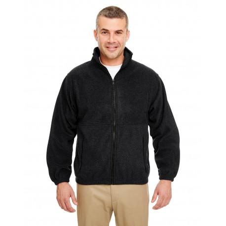8485 UltraClub 8485 Men's Iceberg Fleece Full-Zip Jacket BLACK