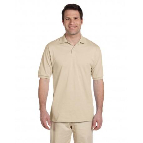 437 Jerzees 437 Adult 5.6 oz. SpotShield Jersey Polo SANDSTONE