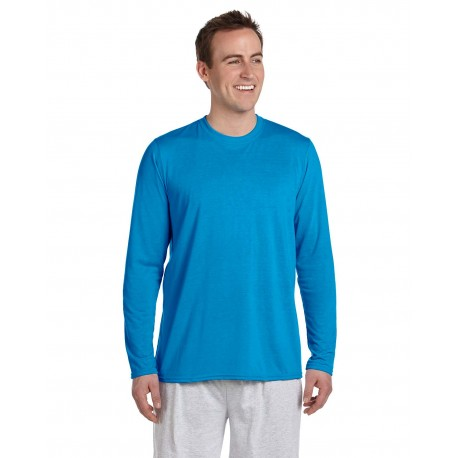 G424 Gildan G424 Adult Performance Adult 5 oz. Long-Sleeve T-Shirt SAPPHIRE