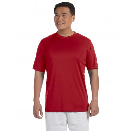 CW22 Champion CW22 Adult 4.1 oz. Double Dry Interlock T-Shirt SCARLET