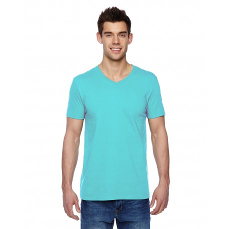 SFVR Fruit of the Loom SFVR Adult 4.7 oz. Sofspun Jersey V-Neck T-Shirt SCUBA BLUE